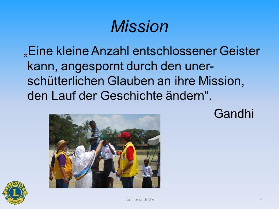 Mission Eine kleine Anzahl entschlossener Geister kann, angespornt durch den uner- schütterlichen Glauben an ihre Mission, den Lauf der Geschichte änd