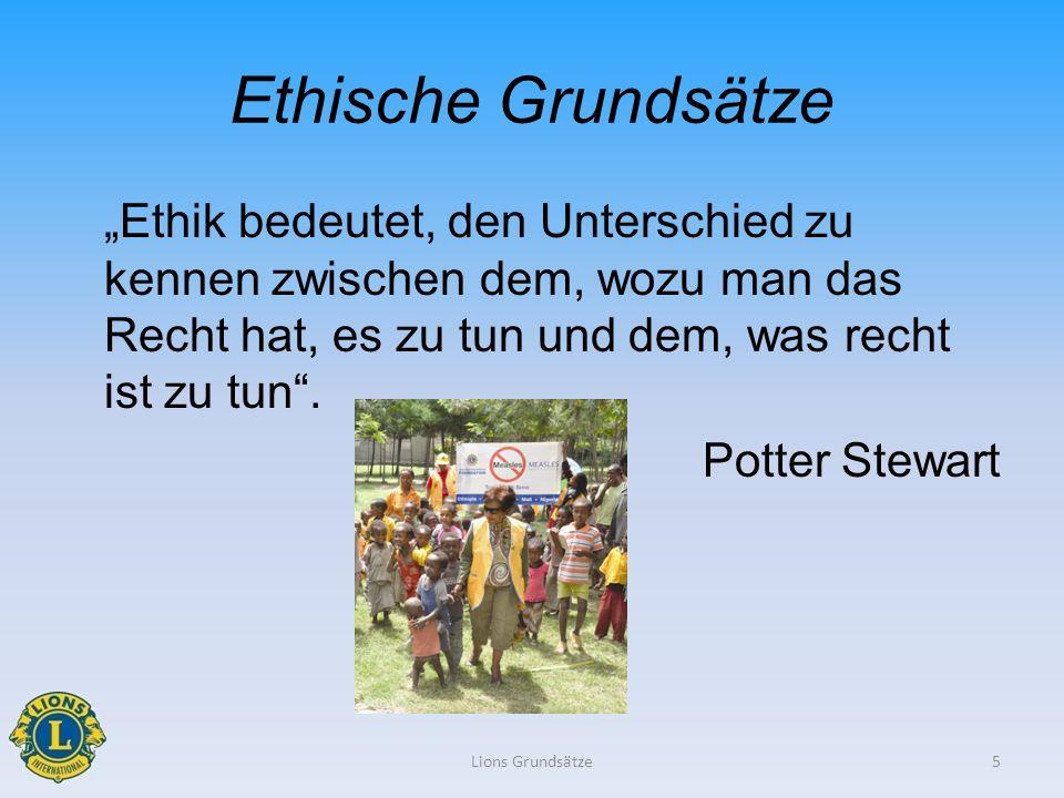 Ethische Grundsätze Ethik bedeutet, den Unterschied zu kennen zwischen dem, wozu man das Recht hat, es zu tun und dem, was recht ist zu tun. Potter St