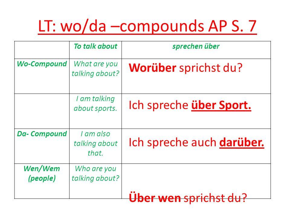 LT: wo/da compounds AP S.