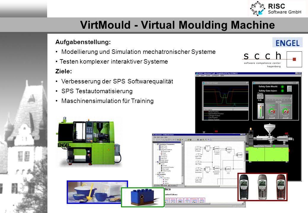 VirtMould - Virtual Moulding Machine Aufgabenstellung: Modellierung und Simulation mechatronischer Systeme Testen komplexer interaktiver Systeme Ziele