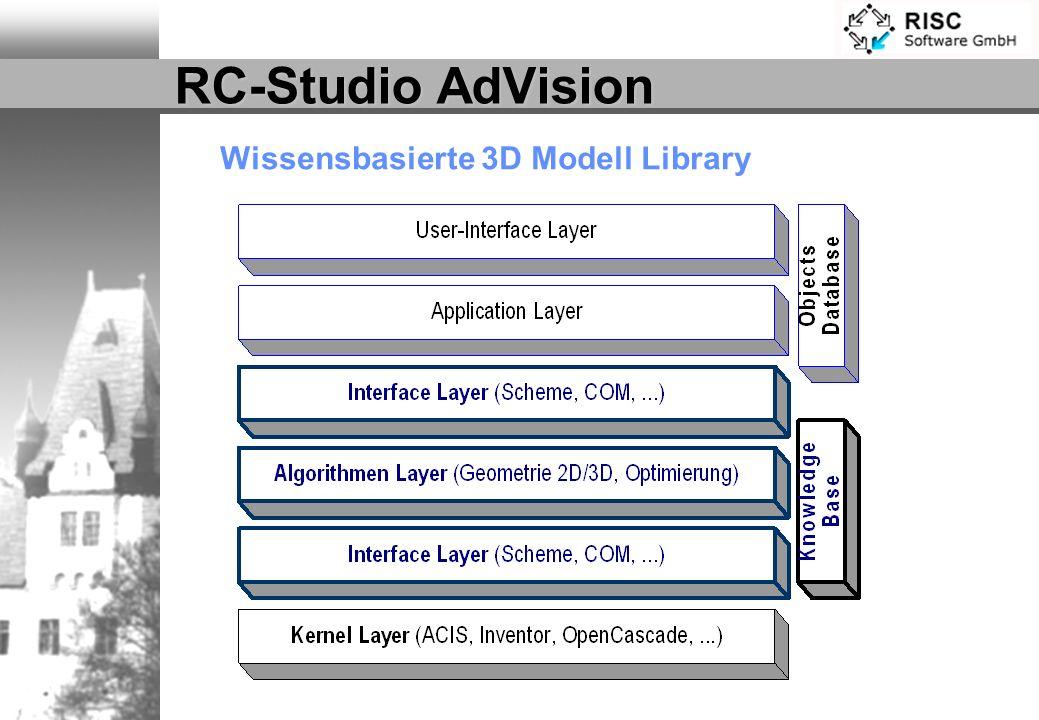 RC-Studio AdVision Wissensbasierte 3D Modell Library