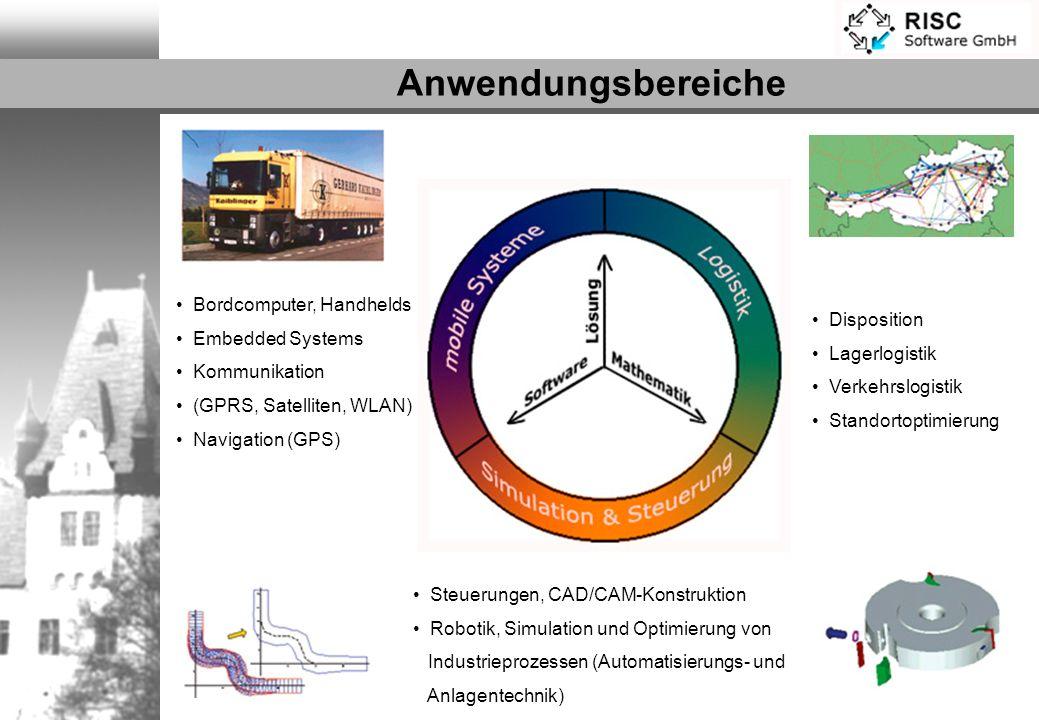 Bordcomputer, Handhelds Embedded Systems Kommunikation (GPRS, Satelliten, WLAN) Navigation (GPS) Steuerungen, CAD/CAM-Konstruktion Robotik, Simulation