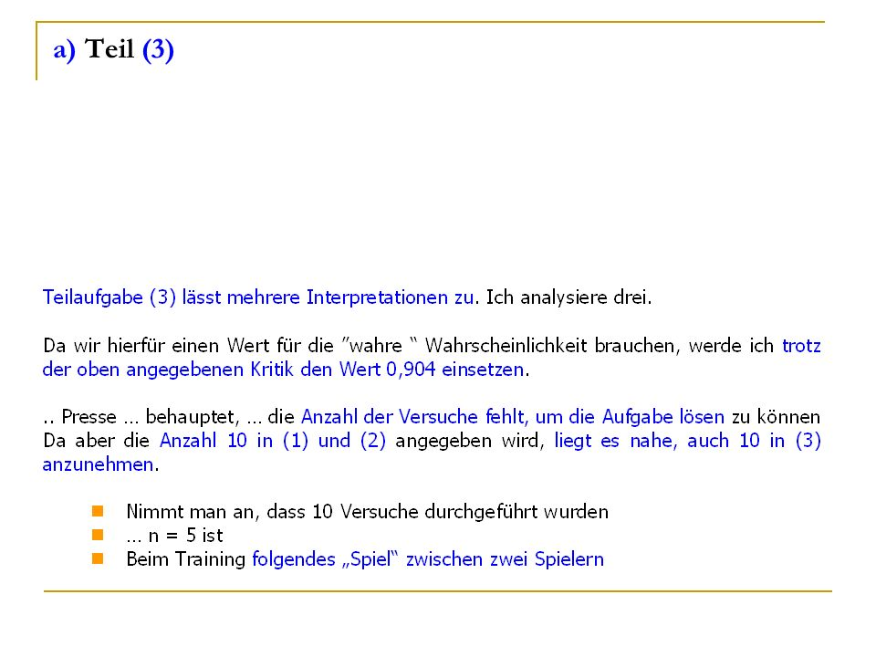 a) Teil (3)