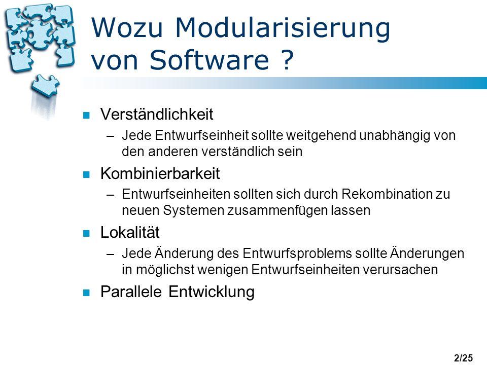 2/25 Wozu Modularisierung von Software .