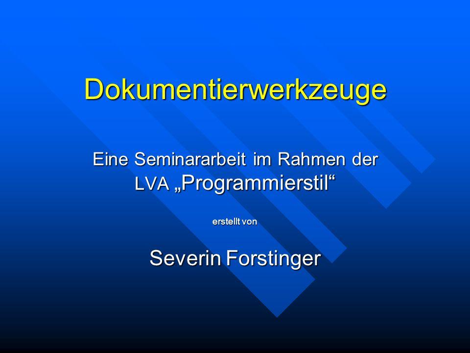 10.01.03Severin Forstinger12 Javadoc (7/10) Die erzeugte Ausgabe schaut so aus: Java-Ausgabe Die erzeugte Ausgabe schaut so aus: Java-Ausgabe Java-Ausgabe Anmerkungen Anmerkungen –Seit Javadoc 1.4 ist das * am Beginn jeder Zeile nicht mehr nötig.