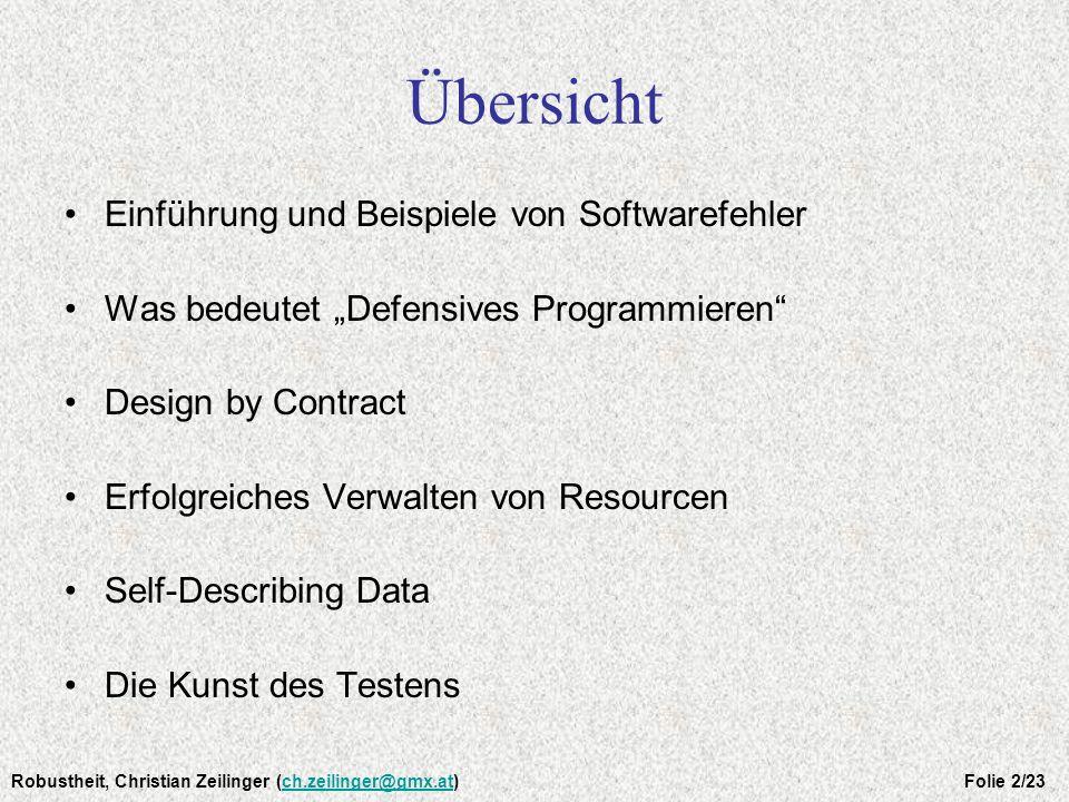 Einführung Es gibt keine perfekte Software.!. Leider Tatsache: Also, was tun.