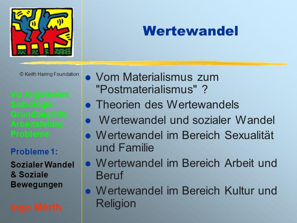 © Keith Haring Foundation VU Allgemeine Soziologie: Grundbegriffe, Arbeitsfelder, Probleme Probleme 1: Sozialer Wandel & Soziale Bewegungen Ingo Mörth