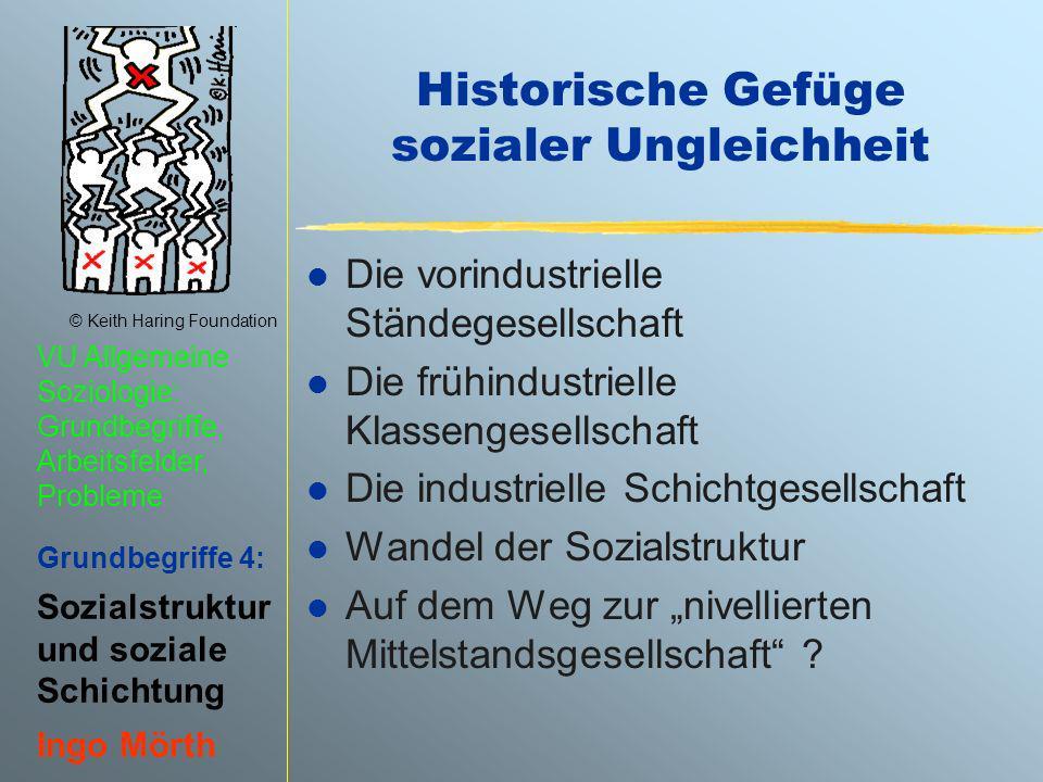 © Keith Haring Foundation VU Allgemeine Soziologie: Grundbegriffe, Arbeitsfelder, Probleme Grundbegriffe 4: Sozialstruktur und soziale Schichtung Ingo