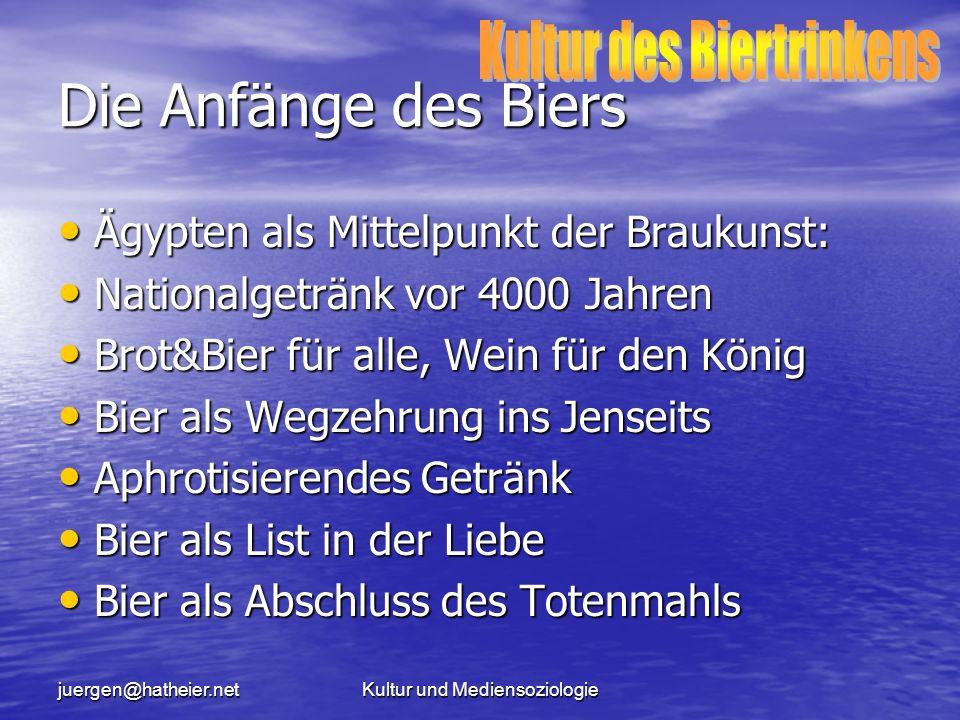 juergen@hatheier.netKultur und Mediensoziologie Die bäuerliche Trinkkultur (1) Um 1800...