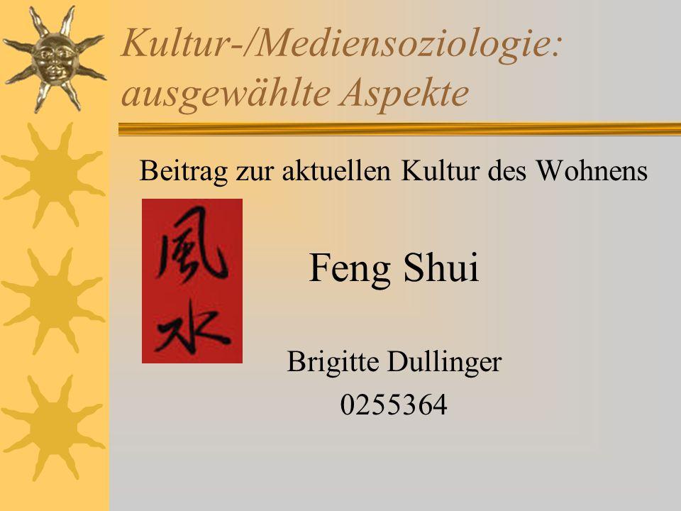 Kultur-/Mediensoziologie: ausgewählte Aspekte Beitrag zur aktuellen Kultur des Wohnens Feng Shui Brigitte Dullinger 0255364