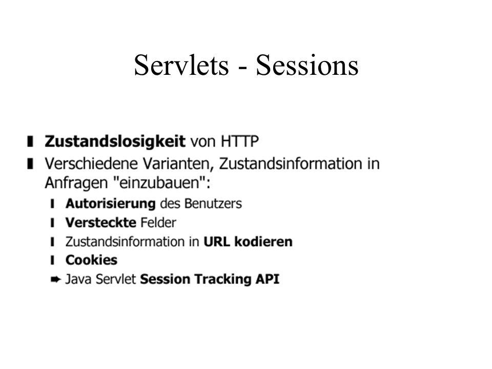 Servlets - Sessions