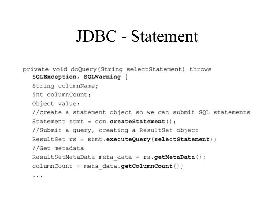 JDBC - Statement