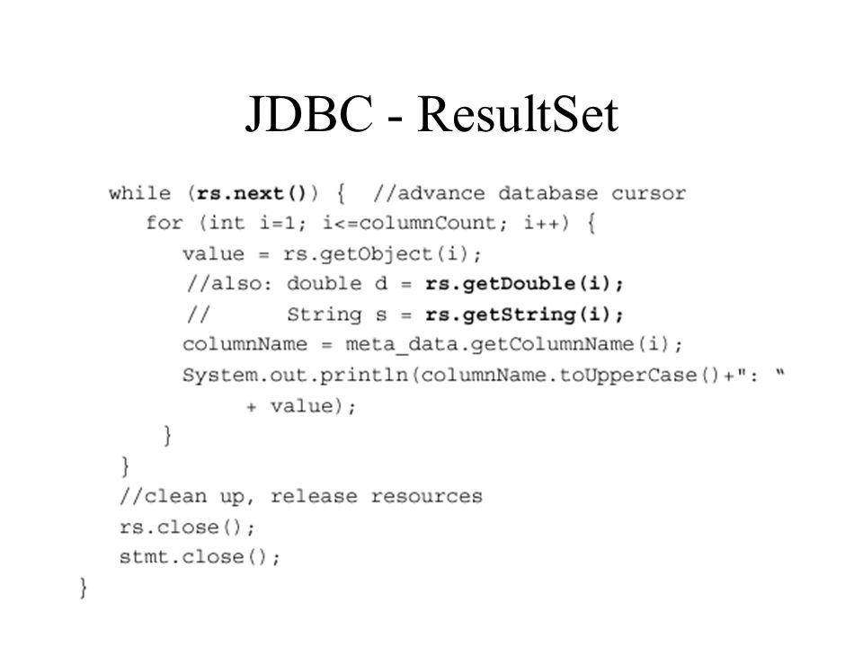 JDBC - ResultSet