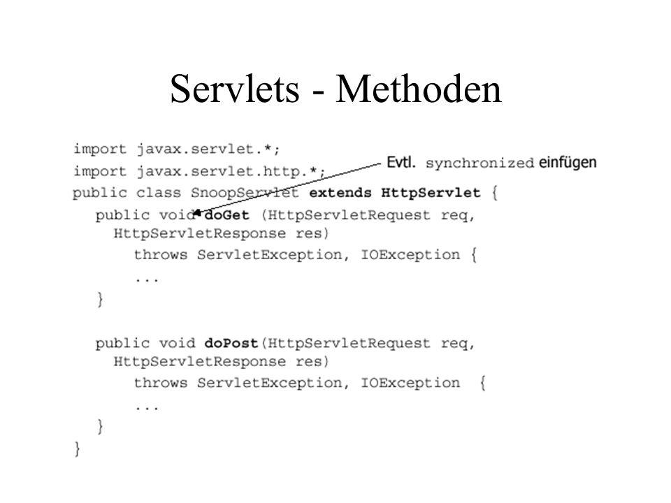 Servlets - Methoden