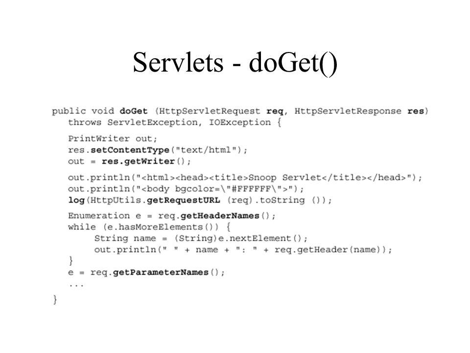 Servlets - doGet()