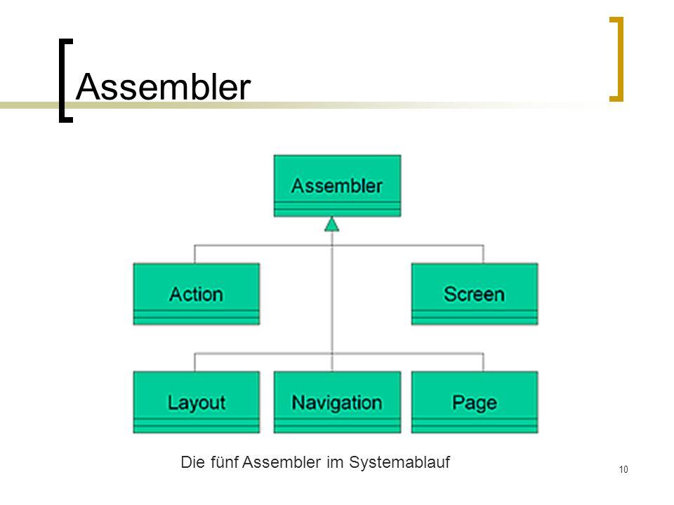10 Assembler Die fünf Assembler im Systemablauf