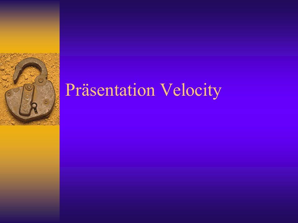 Präsentation Velocity