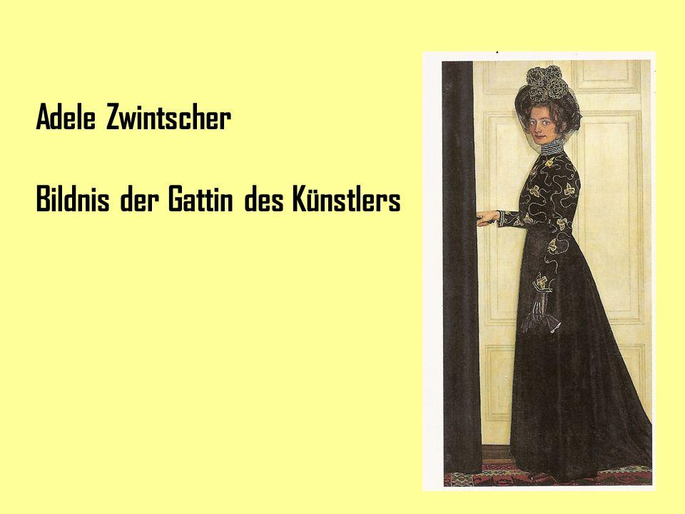 Adele Zwintscher Bildnis der Gattin des Künstlers