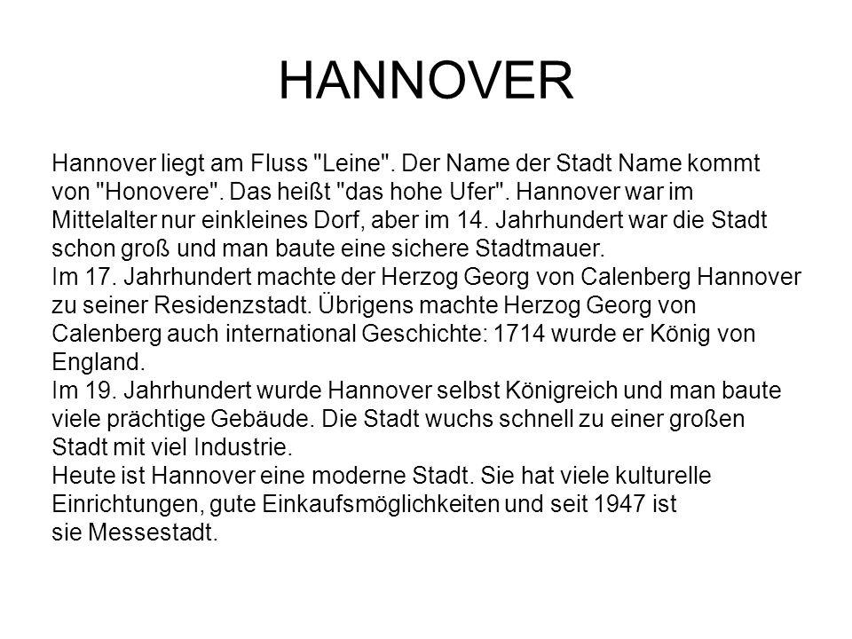 Hannover liegt am Fluss