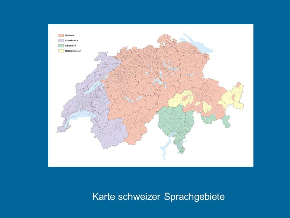 Karte schweizer Sprachgebiete