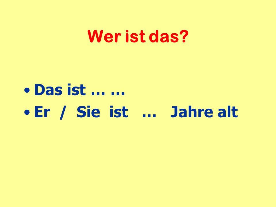 Personal pronouns conjugation of sein [to be] Wie alt bist du.