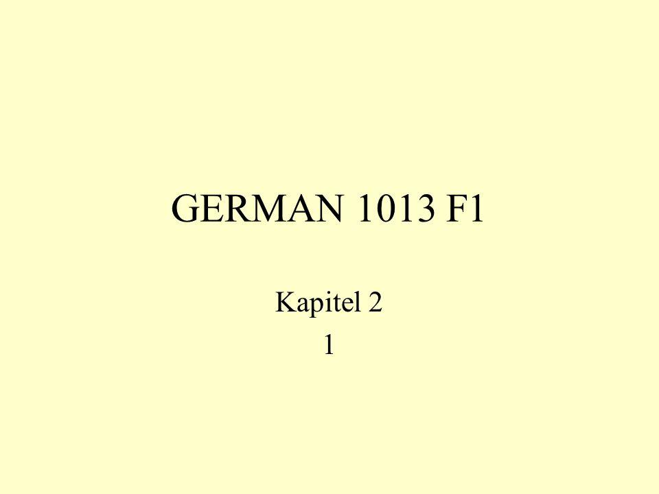 GERMAN 1013 F1 Kapitel 2 1