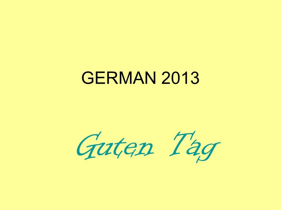 GERMAN 2013 Perfect tense review + practise