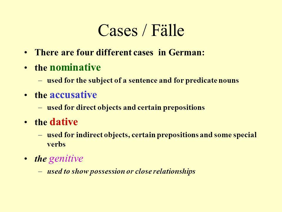 AKKUSATIV Direct object case
