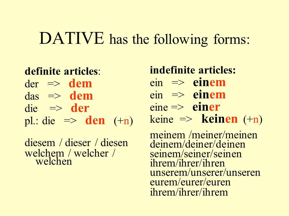 auxilliaries SEIN is used with verbs indicating a change of position like: gehen, fahren, laufen, fliegen … Susanne fliegt nach Deutschland Susanne ist nach Deutschland geflogen.