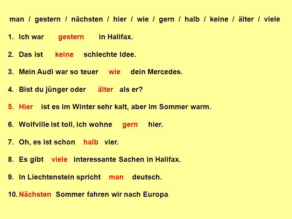 IX.Deal with the following situations in German.