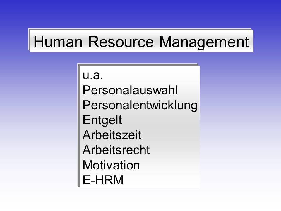 Human Resource Management u.a.