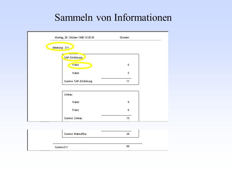 Sammeln von Informationen