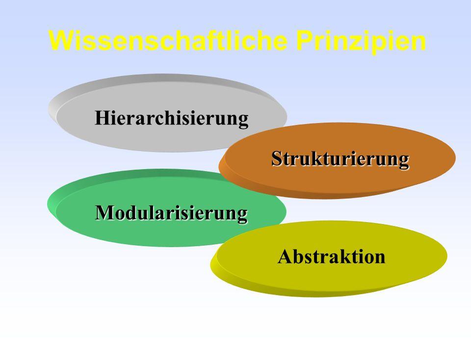 Prinzip => Vorgehensweise Vorgehensweisen zeigen den Weg auf den man gehen soll, sie stellen eine Gebrauchs- anweisung für Prinzipien dar.