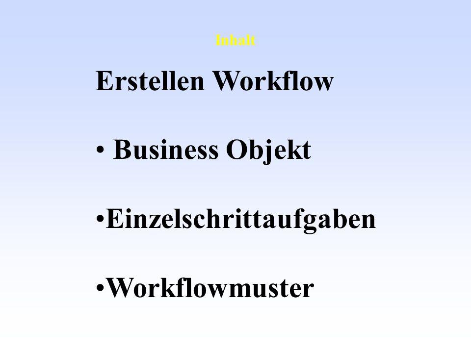 Inhalt Erstellen Workflow Business Objekt Einzelschrittaufgaben Workflowmuster