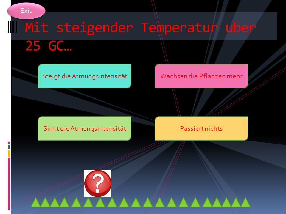Exit Welche ist die Idealtemperatur fur die Atmung? 0 (Grad Celsius) 25(GC)23 (GC) 10 (GC)