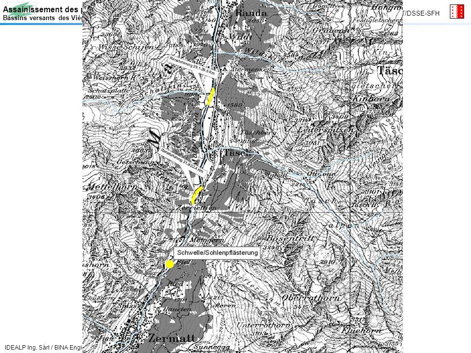 Assainissement des prélèvements deau / Gewässersanierung Bassins versants des Vièges et du val dAnniviers / Einzugsgebiet Vispa und Anniviers Canton du Valais GT/DSSE-SFH IDEALP Ing.