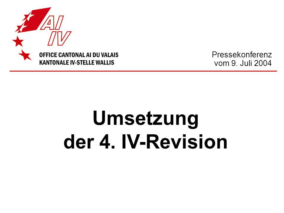 Umsetzung der 4. IV-Revision Pressekonferenz vom 9. Juli 2004