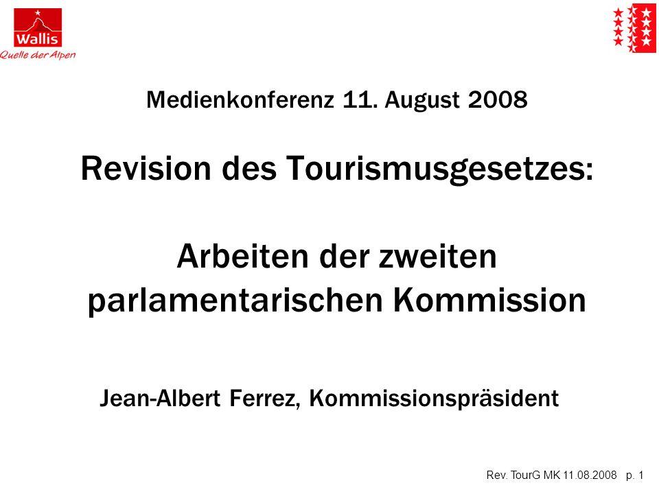 Rev.TourG MK 11.08.2008 p. 2 Ablauf der MK 1. 1.Bestandesaufnahme 2.