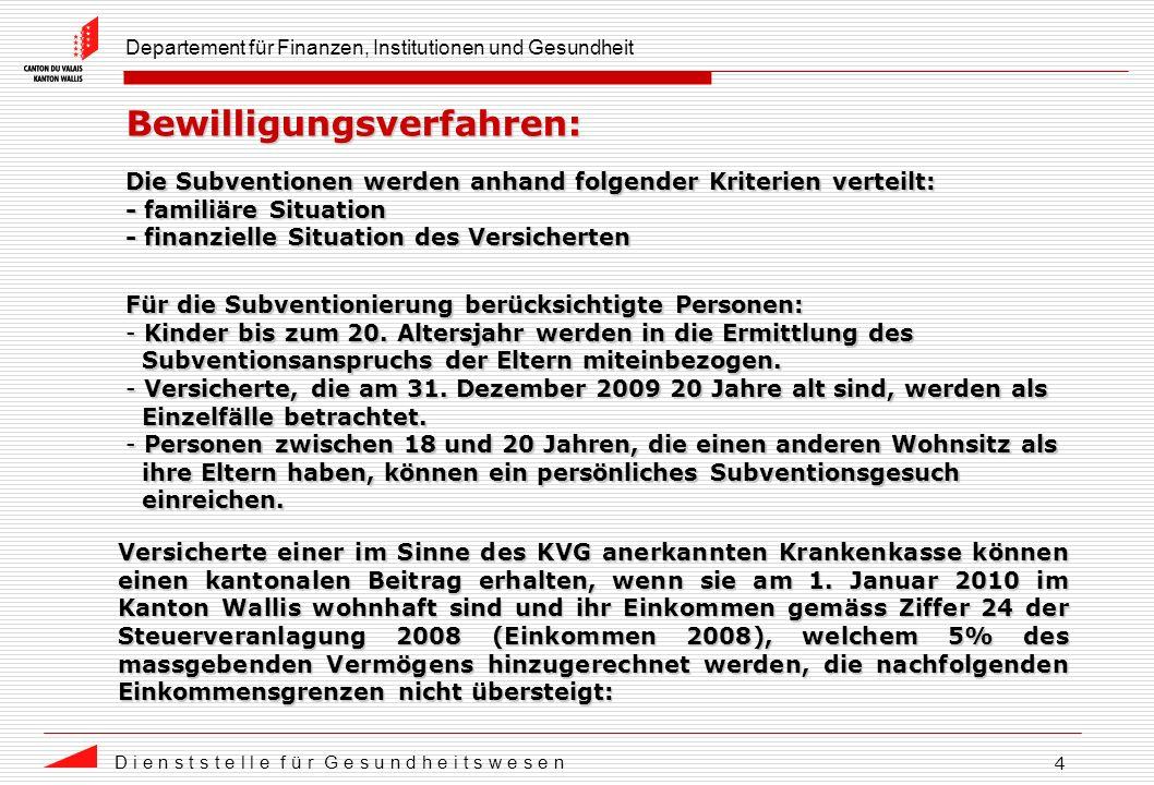 Departement für Finanzen, Institutionen und Gesundheit D i e n s t s t e l l e f ü r G e s u n d h e i t s w e s e n 15 Aufteilung des Gesamtbetrags in der Westschweiz: