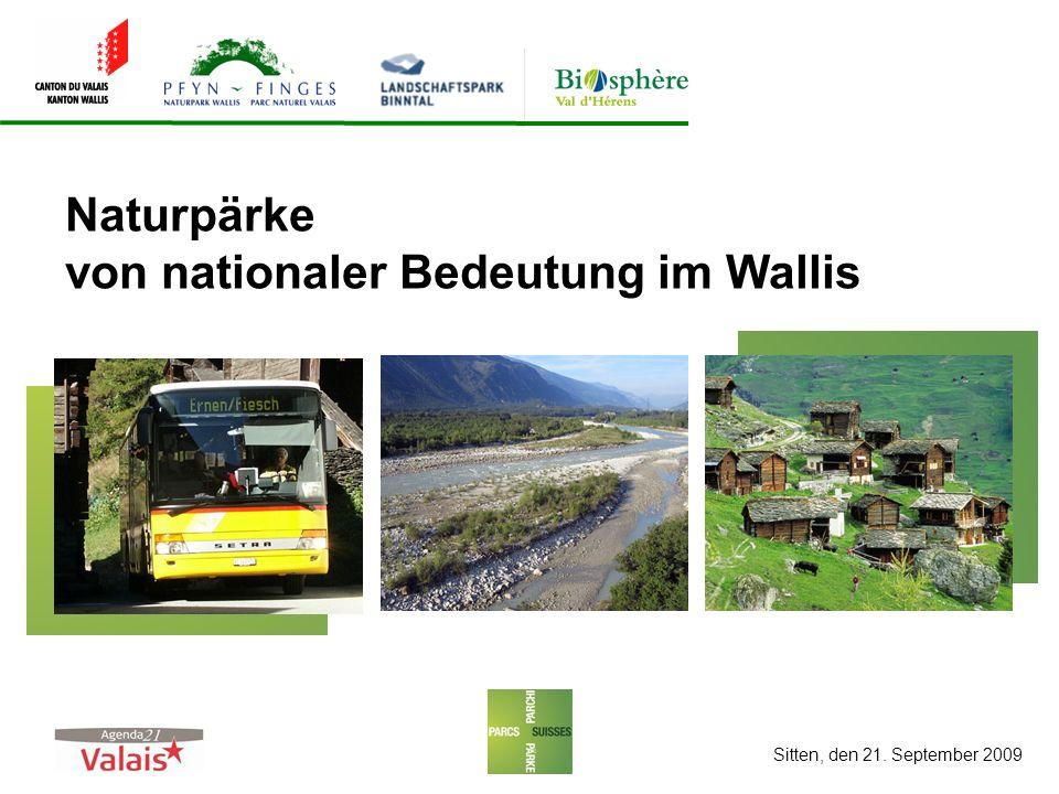 Naturpärke von nationaler Bedeutung im Wallis Sitten, den 21. September 2009