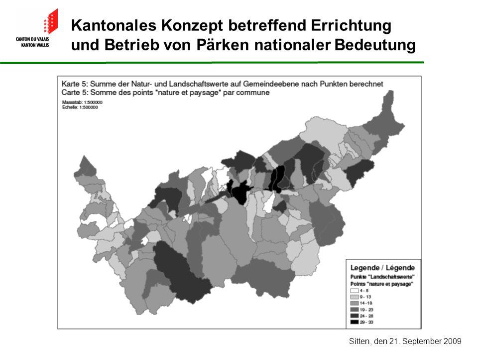 Kantonales Konzept betreffend Errichtung und Betrieb von Pärken nationaler Bedeutung