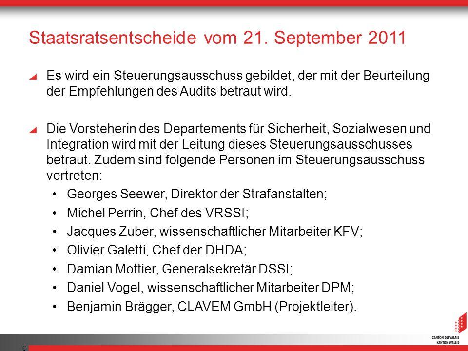 7 Staatsratsentscheide vom 21.