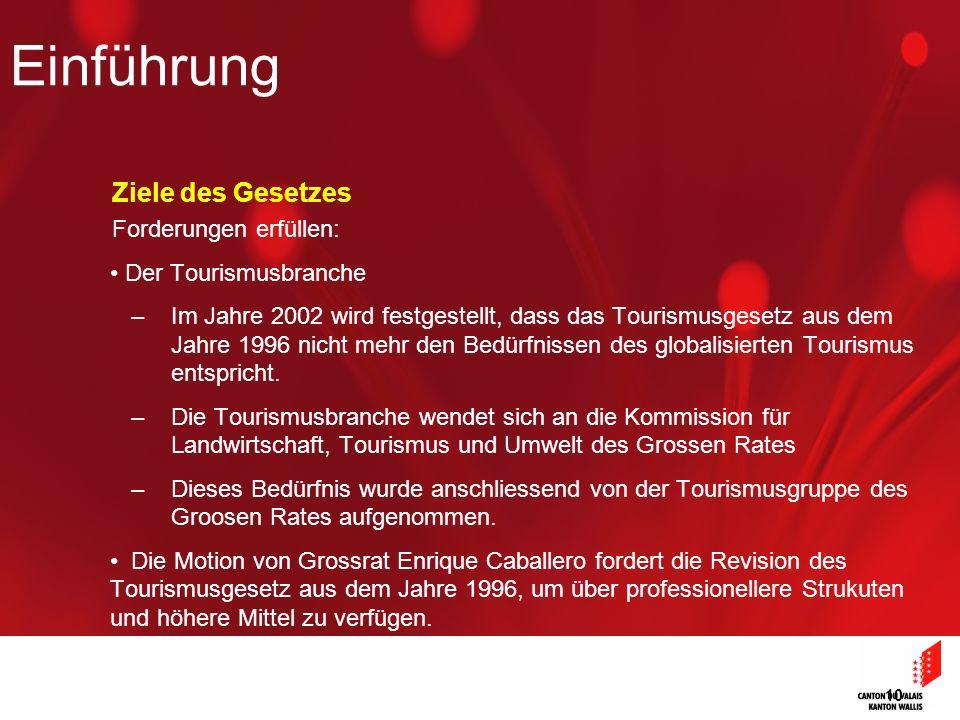 10 Ziele des Gesetzes Forderungen erfüllen: Der Tourismusbranche –Im Jahre 2002 wird festgestellt, dass das Tourismusgesetz aus dem Jahre 1996 nicht mehr den Bedürfnissen des globalisierten Tourismus entspricht.