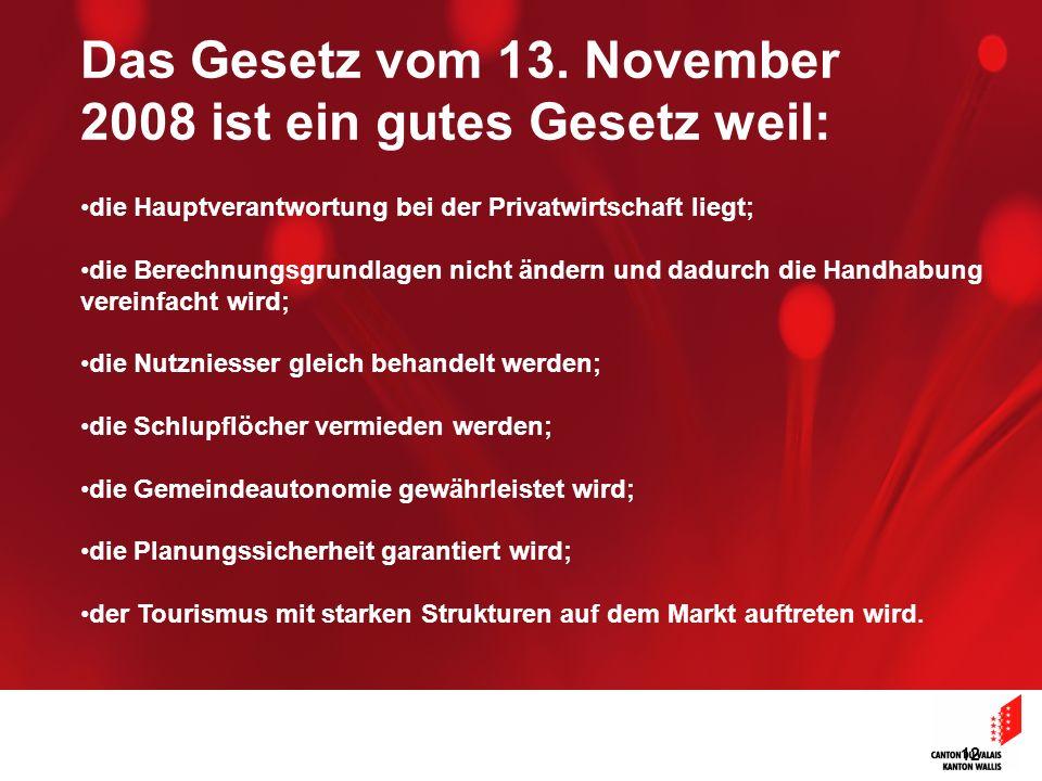 12 Das Gesetz vom 13. November 2008 ist ein gutes Gesetz weil: die Hauptverantwortung bei der Privatwirtschaft liegt; die Berechnungsgrundlagen nicht