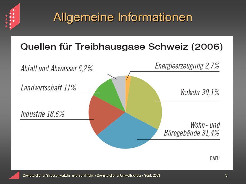 Dienststelle für Strassenverkehr und Schifffahrt / Dienststelle für Umweltschutz / Sept. 20093 Allgemeine Informationen