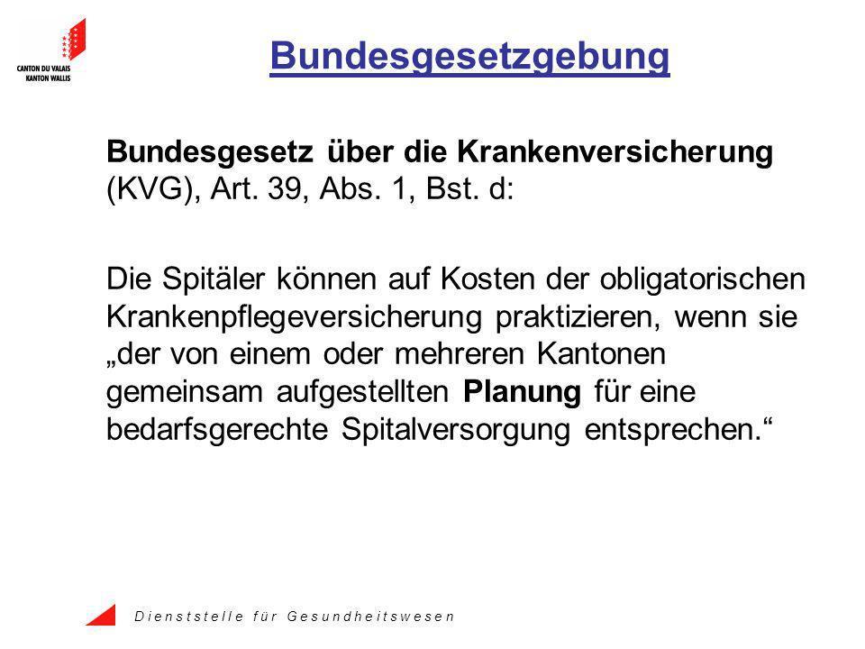 D i e n s t s t e l l e f ü r G e s u n d h e i t s w e s e n Bundesgesetzgebung Bundesgesetz über die Krankenversicherung (KVG), Art.