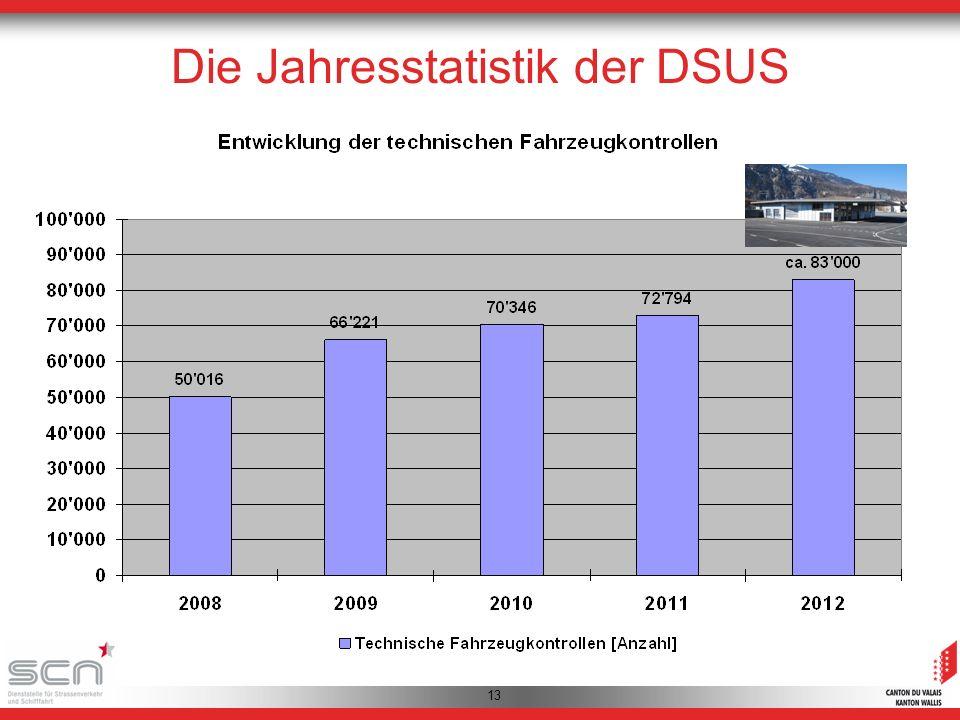 13 Die Jahresstatistik der DSUS