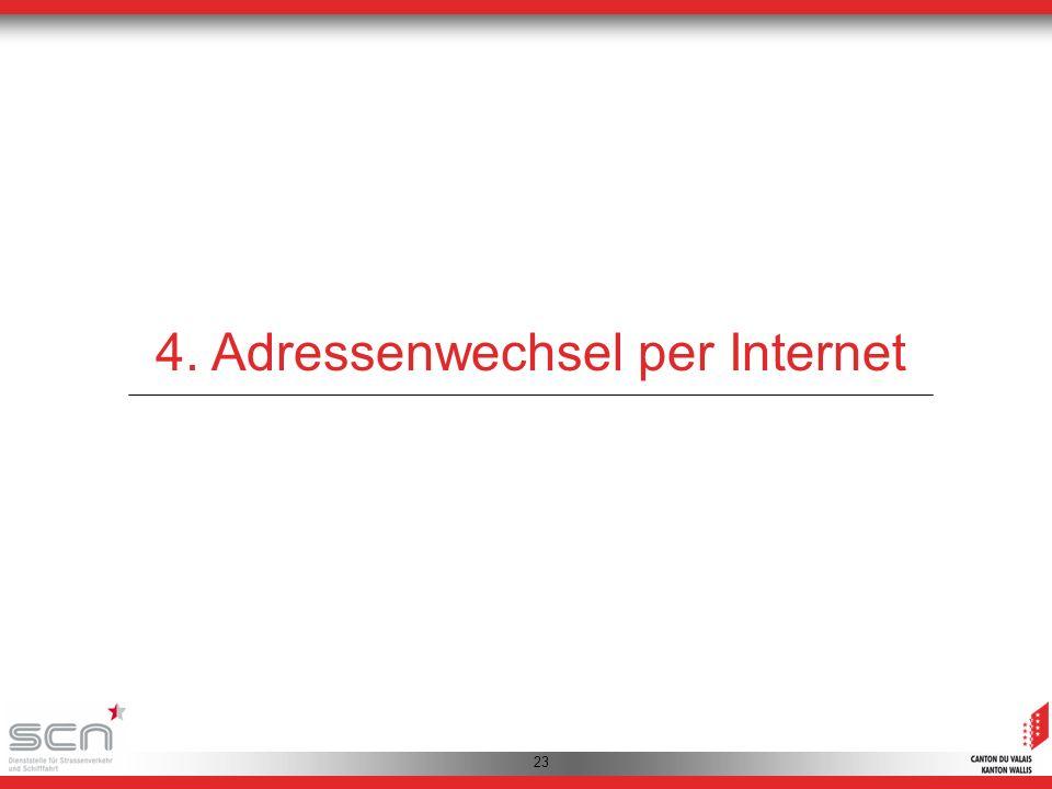 23 4. Adressenwechsel per Internet