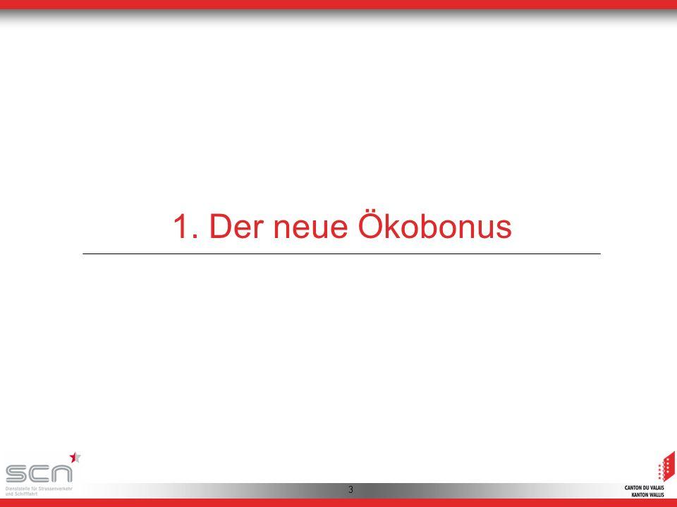 4 Der Ökobonus 2010 - 2012 Planung (Anzahl Fahrzeuge) Realisierun g (Anzahl Fahrzeuge) Finanzielle Auswirkungen (CHF) 201050004426290608.- 201165005969407470.- 20128000ca.