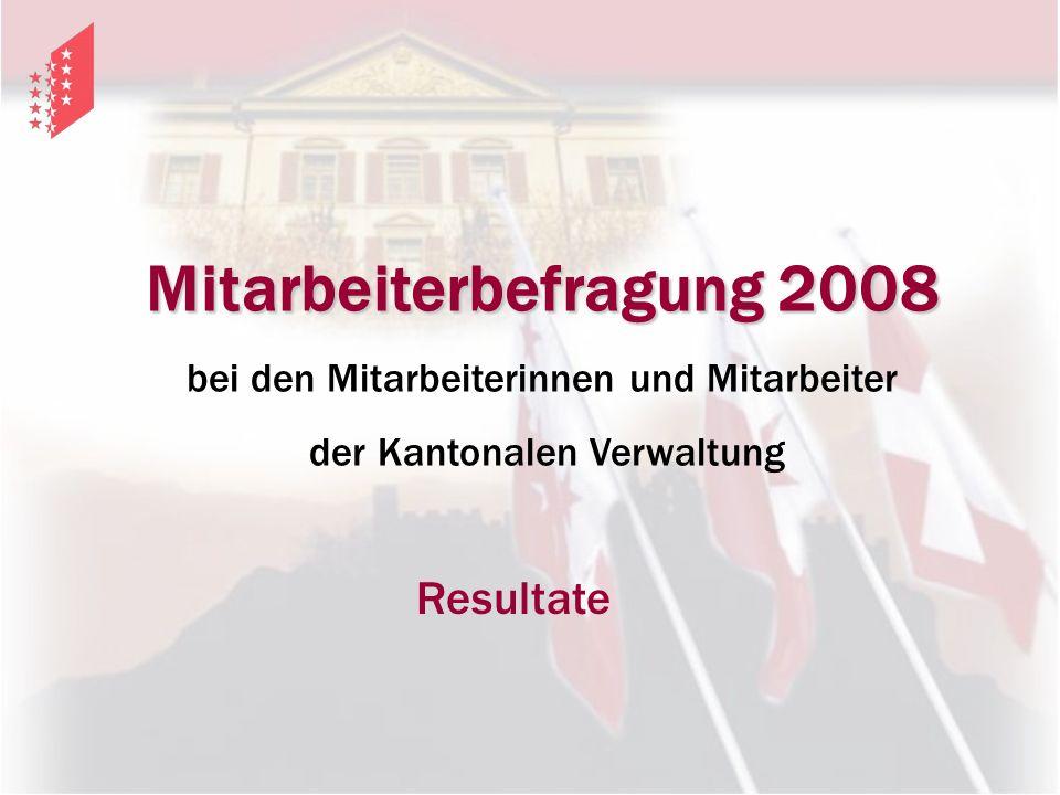 Mitarbeiterbefragung 2008 bei den Mitarbeiterinnen und Mitarbeiter der Kantonalen Verwaltung Resultate